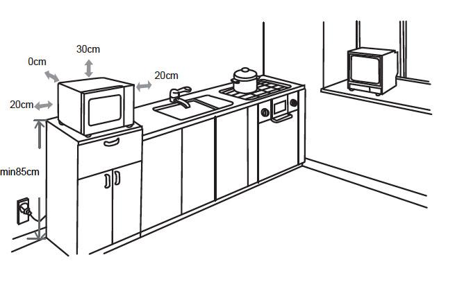 25 litre freestanding microwave
